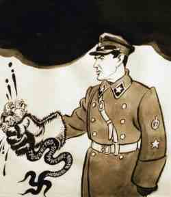 Плакат Бориса Ефимова «Ежовые рукавицы»