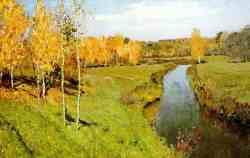 Золотая осень. Левитан 1895 г.