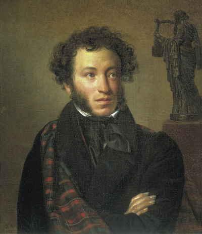 Портрет Пушкина, Кипренский О.А., 1827, ГТГ