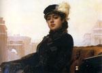 Неизвестная, Крамской И.Н., 1883, ГТГ