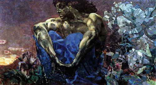 Демон (сидящий) (Врубель М.А.)