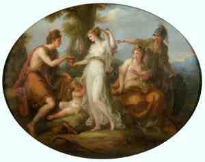 Суд Париса, Ангелика Кауфман, ок. 1770-1797