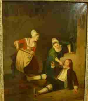 Женские проказы, И. Баен, Германия, первая половина 19 века. Тверская областная картинная галерея (Тверь)
