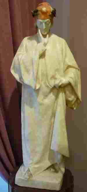 Данте Алигьери, Лоренцо Гори (19 век), мрамор. Тверская областная картинная галерея (Тверь)