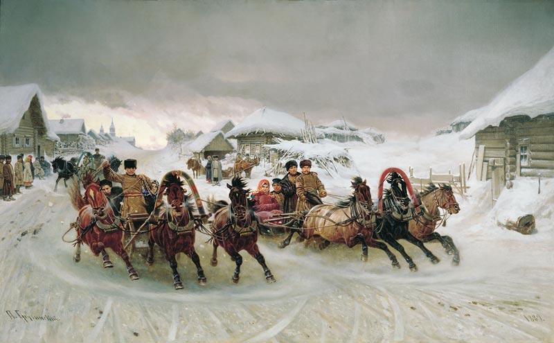 Масленица. П.Н.Грузинский, 1889