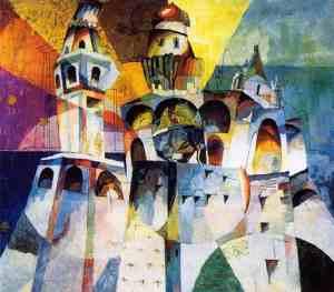Лентулов А.В. Звон. Колокольня Ивана Великого, 1915 г. ГТГ