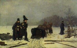 Художник А.Наумов, картина Дуэль Пушкина с Дантесом (1884 год)