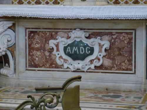 AMDG в Церкви Гесу (Палермо)