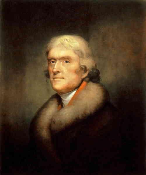 Томас Джефферсон (портрет), художник Рембрант Пил (Rembrandt Peale), 1805 г.