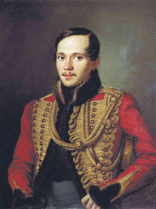 Лермонтов в ментике лейб-гвардии Гусарского полка, Заболотский П. Е., 1837 г.