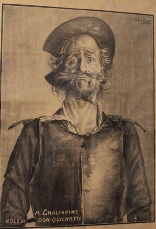 Санкт-Петербург. Плакат к выступлению Ф. Шаляпина в Монте-Карло в опере Дон Кихот, 1911 г.