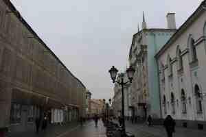Никольская улица у здания РГГУ (Москва)