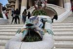 Барселона. Парк Гуэль. Монументальная лестница. Скульптура