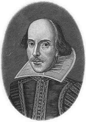 Гравюра с изображением Уильяма Шекспира из посмертного «Первого Фолио» (1623 г.) работы Мартина Друшаута