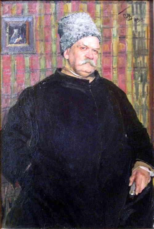 Гиляровский Владимир Алексеевич. Портрет С. Малютина (1915 г.)