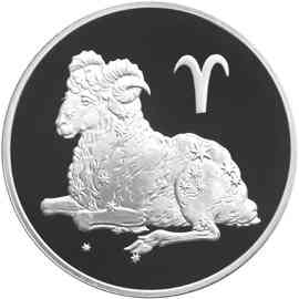Монета Овен, три рубля (2004 г.)