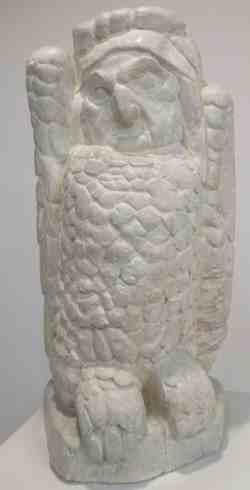 Сова. Вещая птица. 1909 г. Гипс тонированный. Музей скульптуры С.Т. Коненкова (Смоленск)