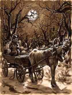 Иллюстрация к рассказу А.П. Чехова «Пересолил» (Николай Королёв)