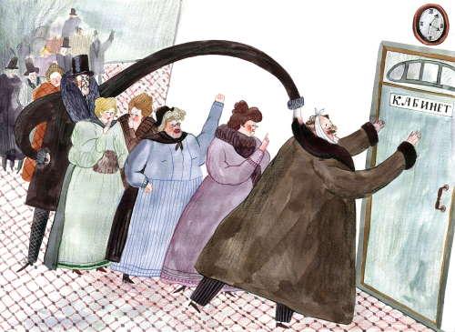 Иллюстрация к рассказу Чехова «Ах, зубы!» (Татьяна Уклейко)