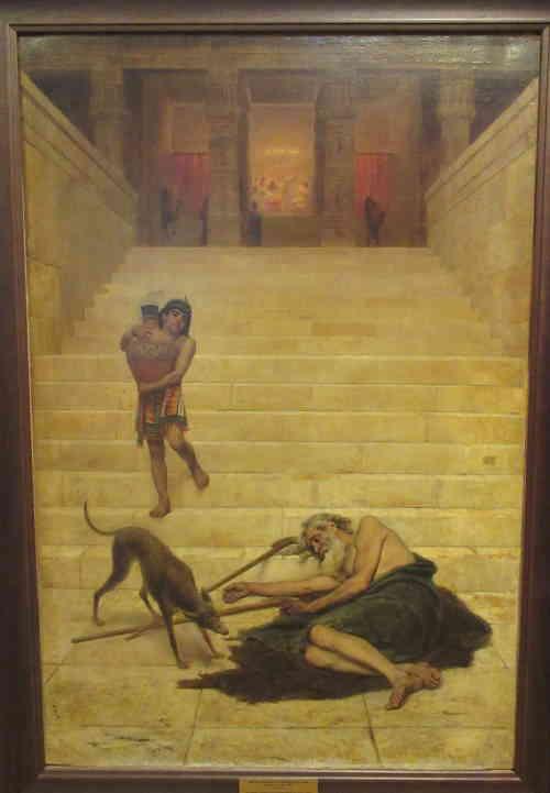Притча о Лазаре, 1886. Бронников Ф.А. (1827 - 1902). Тверская областная картинная галерея (Тверь)