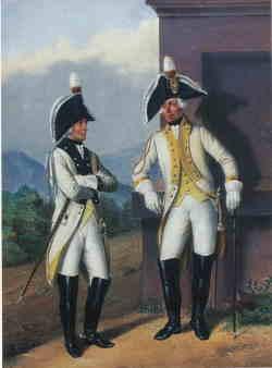 Генералы Харьковского и Малороссийского полка в виц-мундирах. 1797-1801.