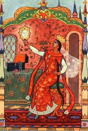 Царица и зеркальце(художник А .М. Куркин)