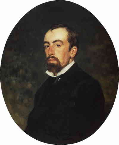 Портрет художника Василия Дмитриевича Поленова. И. Репин, ГТГ