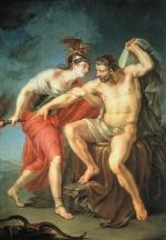 Самосожжение Геркулеса на костре в присутствии его друга Филоктета, Акимов Иван Акимович, 1782, ГТГ