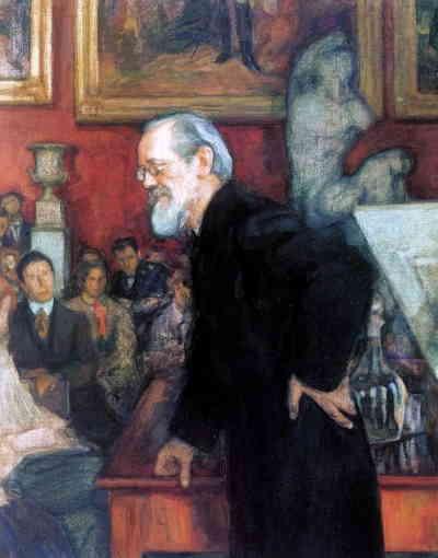 Л. Пастернак. На лекции профессора Ключевского (1909)