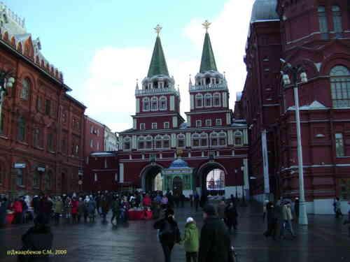 Иверская часовня и Воскресенские ворота (Москва)