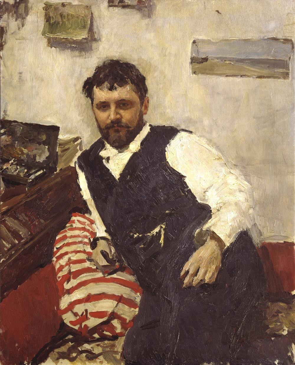 Константин Коровин. Портрет Велентина Серова (1891 г.)