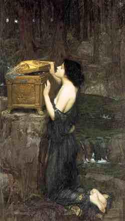 """""""Пандора"""", художник Джон Уотерхаус (1849-1917), 1896 г."""