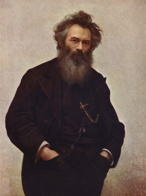 «Портрет И. Шишкина», художник И. Н. Крамской (1880 г., Русский музей)