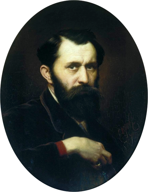 Василий Перов. автопортрет (1870 г.)