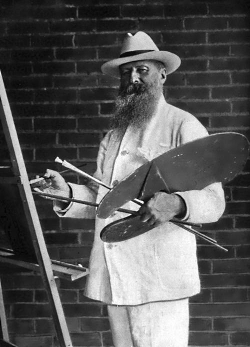 Верещагин за мольбертом, 1902