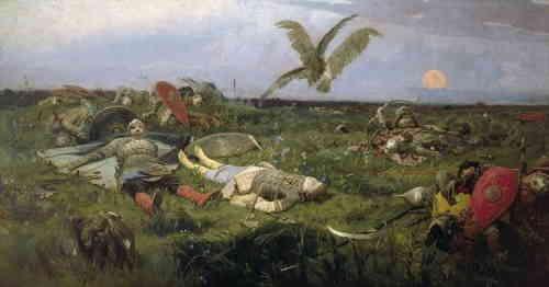После побоища Игоря Святославича с половцами (В. Васнецов)