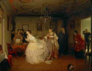 Сватовство майора, художник Павел Федотов, 1848 г., ГТГ