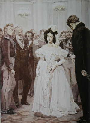 Ужель та самая Татьяна? (художник Тимошенко Лидия, 1950 – 1955)