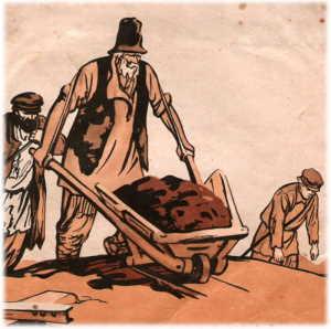 Иллюстрация к стихотворению Н. А. Некрасова «Железная дорога», художник Кондратьев А.