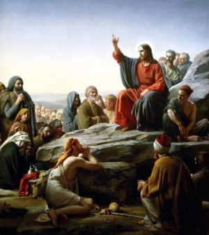 «Нагорная проповедь», художник К. Г. Блох, 1877 г. (Датский музей национальной истории)