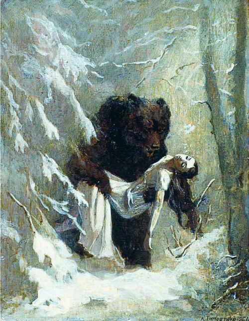 Сон Татьяны Лариной, художник Тимошенко Л. Я.