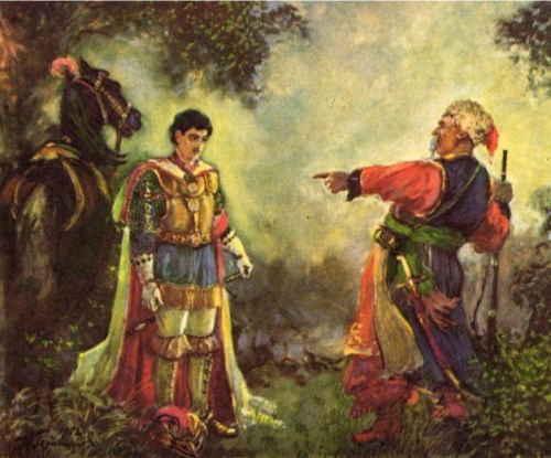 Тарас Бульба и его сын Андрей (художник А. Герасимов)