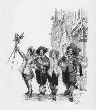"""Иллюстрация к роману """"Три мушкетера"""" (художник Maurice Leloir)"""