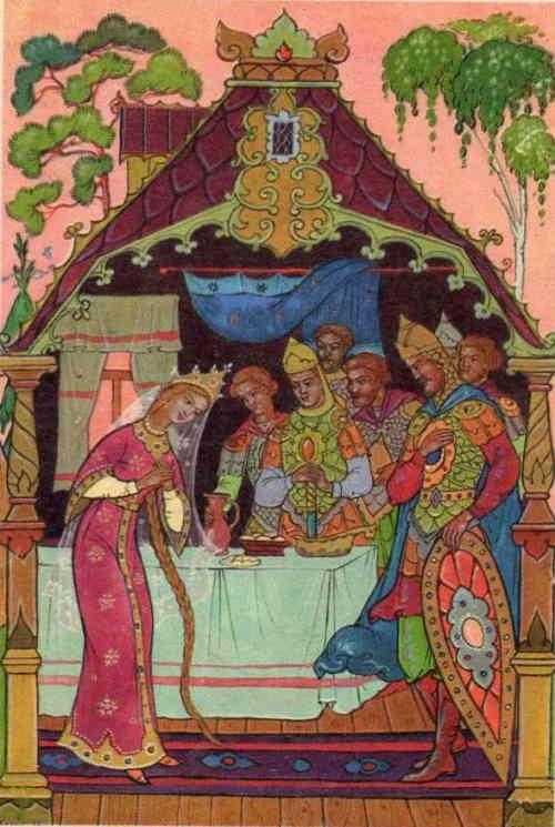 Царевна и семь богатырей (художник А .М. Куркин)