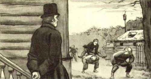Я жил недорослем, гоняя голубей и играя в чехарду с дворовыми мальчишками (художник Герасимов С.В.)