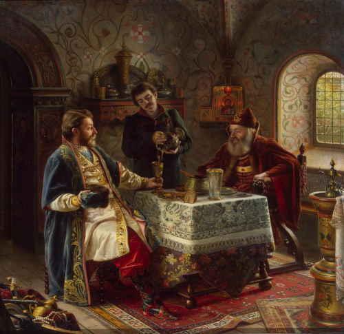 Милый гость издалека (художник Оскар Фрейвирт-Лютцов, 1888 г.)