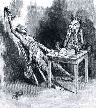 Беседа пьяного с трезвым чёртом (иллюстрация)