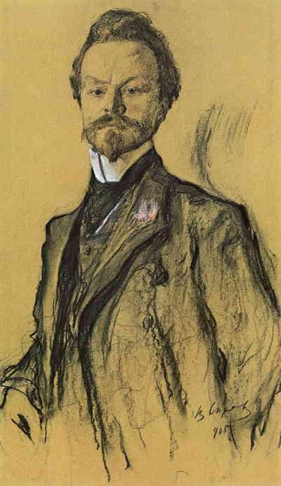К. Д. Бальмонт. Портрет работы Валентина Серова (1905)