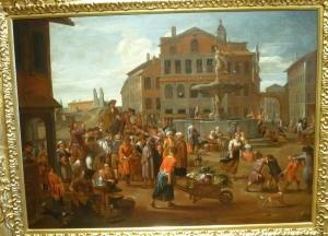 Ярославль. Музей зарубежного искусства. Уличный шарлатан на римской площади. Александр Ван Бредал, конец 17 - начало 18 века