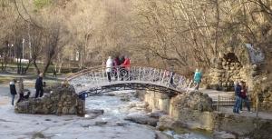 Кисловодск. Национальный парк «Кисловодский». Мост Дамский каприз с гротом